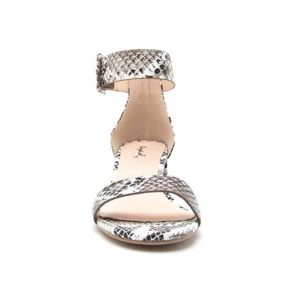 QUPID Scarlett Snakeskin Opentoe Sandal