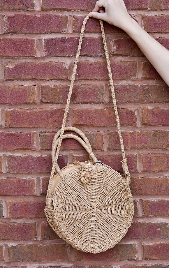 Ruth Round Straw Bag