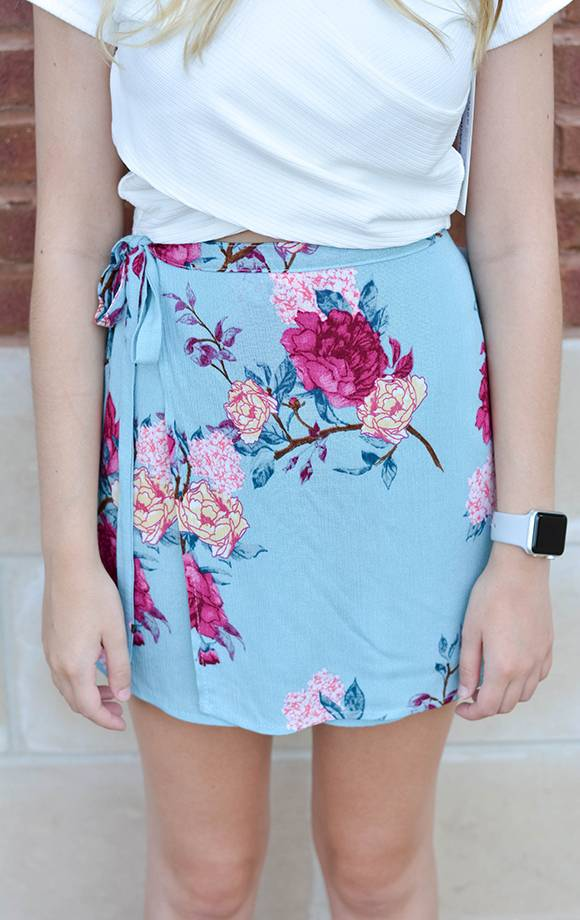 Kaylee Floral Prt Wrap Skort