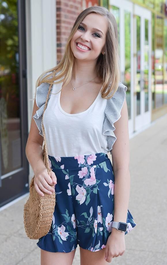 Jasmine Pleated Floral Shorts