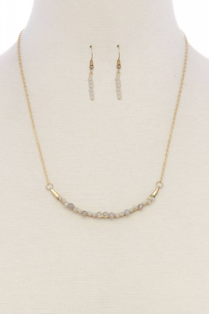 Beaded Arc Short Necklace