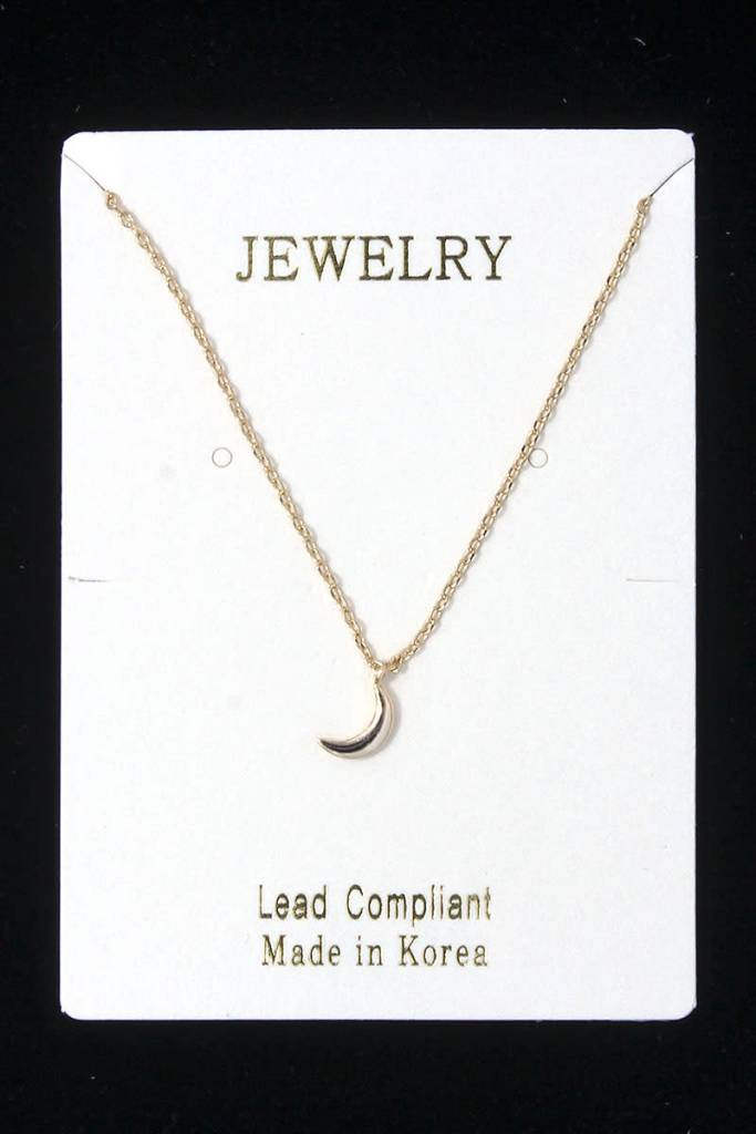 Dainty Crescent Moon Necklace