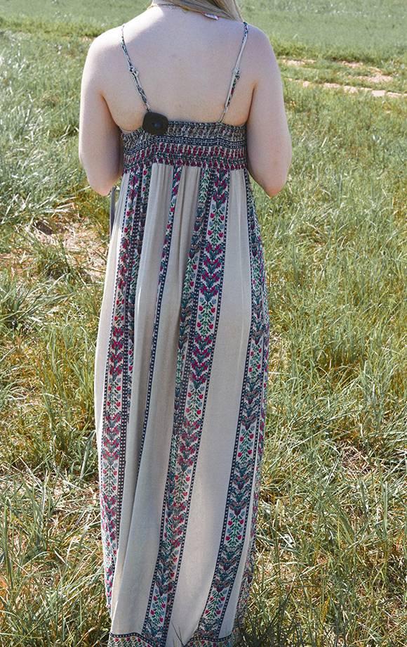 Anastasia Border Print Maxi Dress