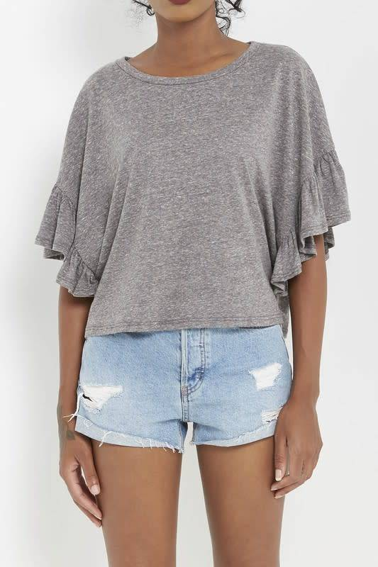 Mary Ruffle Trim Knit Top