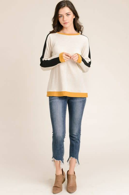 Indiana Colorblock Casual Sweatshirt
