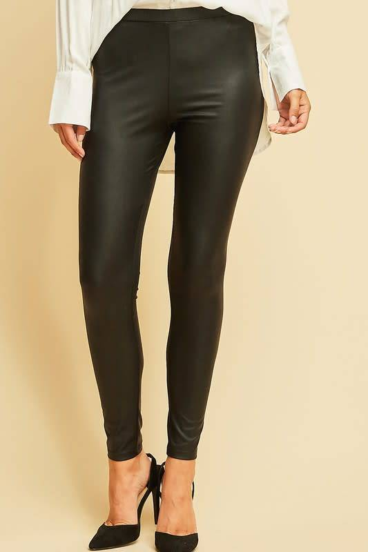 Melissa Pleather Pull On Leggings