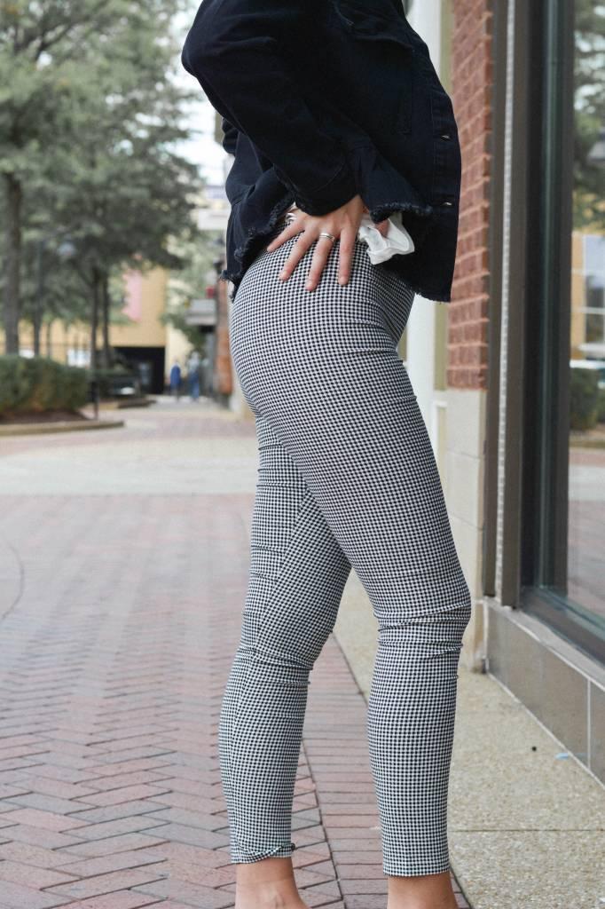 Alex Checkered Skinny Pants