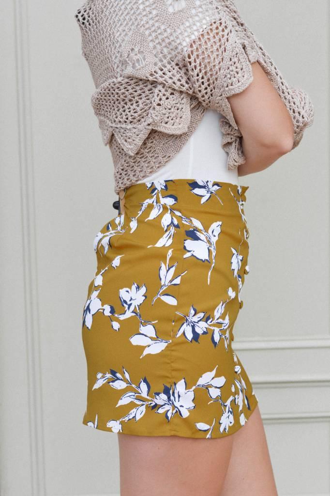 Macy Floral Print Woven Skirt