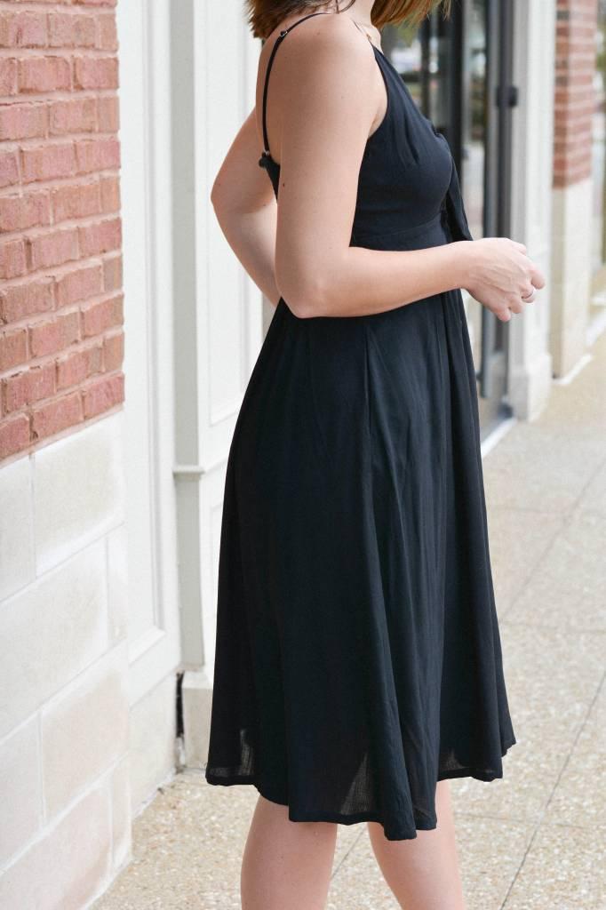 Elaine Midi Front Tie Sweetheart Dress