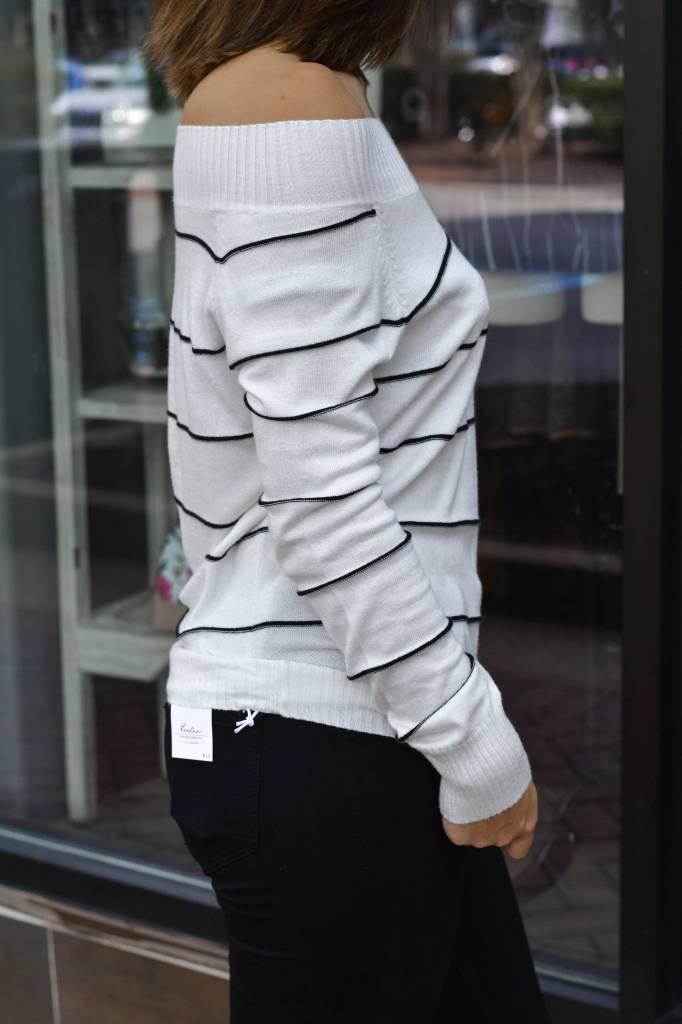Chelsea Stripe Raglan Sweater