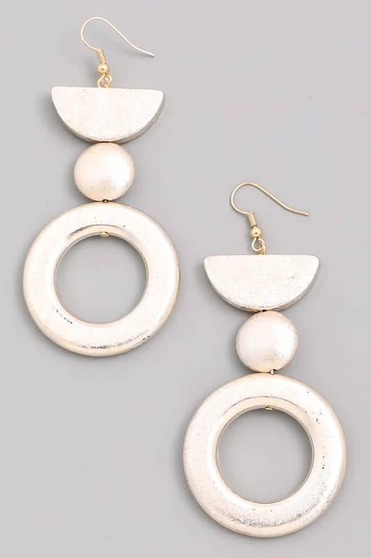 Tiered Geometric Dangle Earrings
