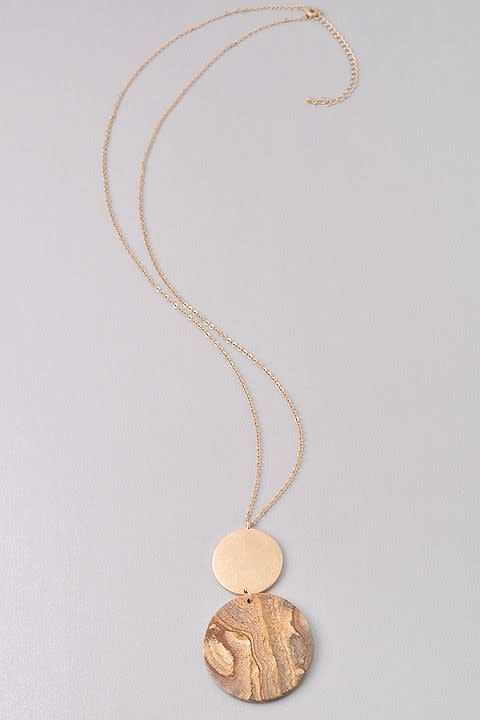 Dbl Round Pendant Necklace