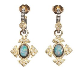 Armenta Old World Petite Opal Cross Earring
