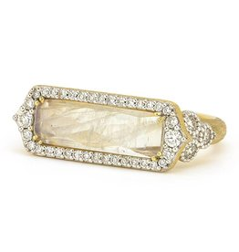 Jude Frances Moroccan East West Simple Long Cushion Ring