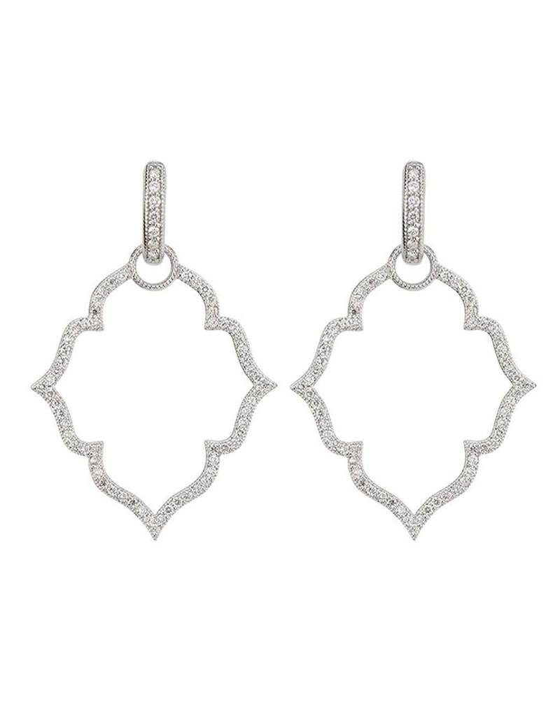 Jude Frances Mice Flower Pave Earring Charm Frames