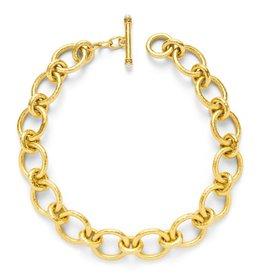 Julie Vos Catalina Large Link Gold Pearl Necklace