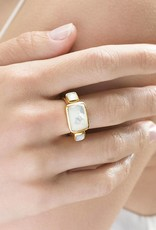 Julie Vos Catalina Gold Tri-Stone