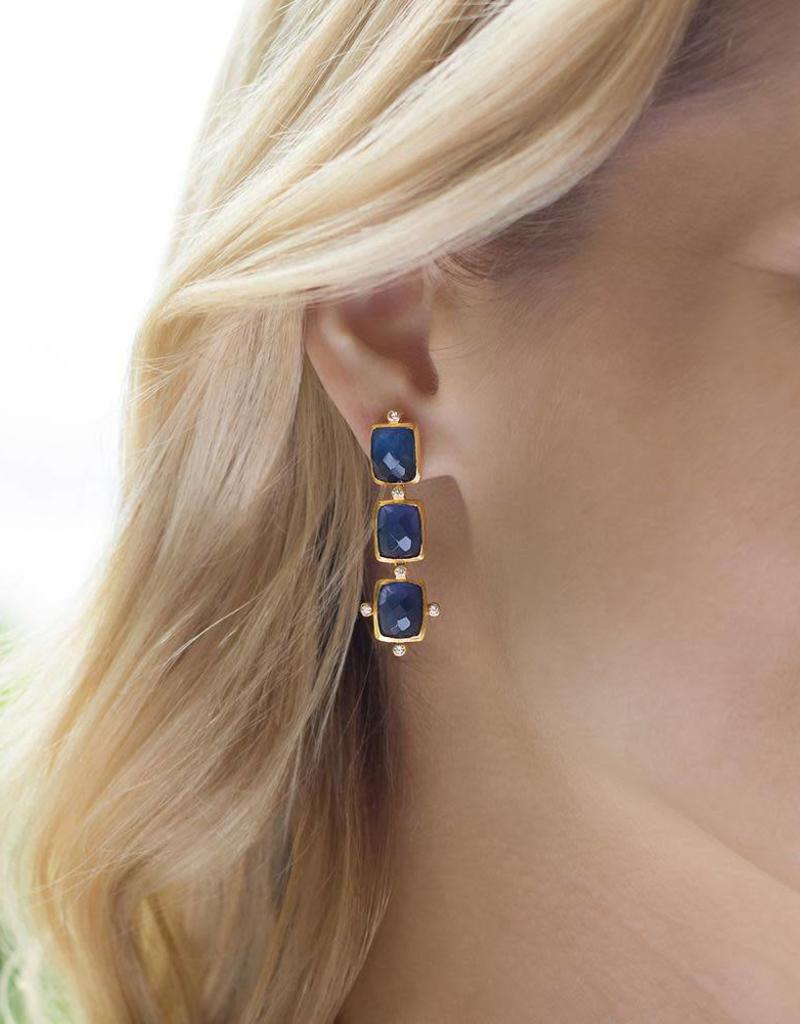 Julie Vos Clara Tier Gold Earring