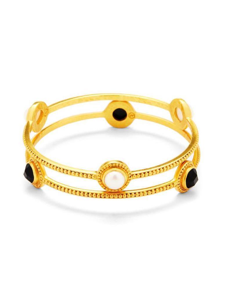 Julie Vos Florentine Stone Bangle Gold