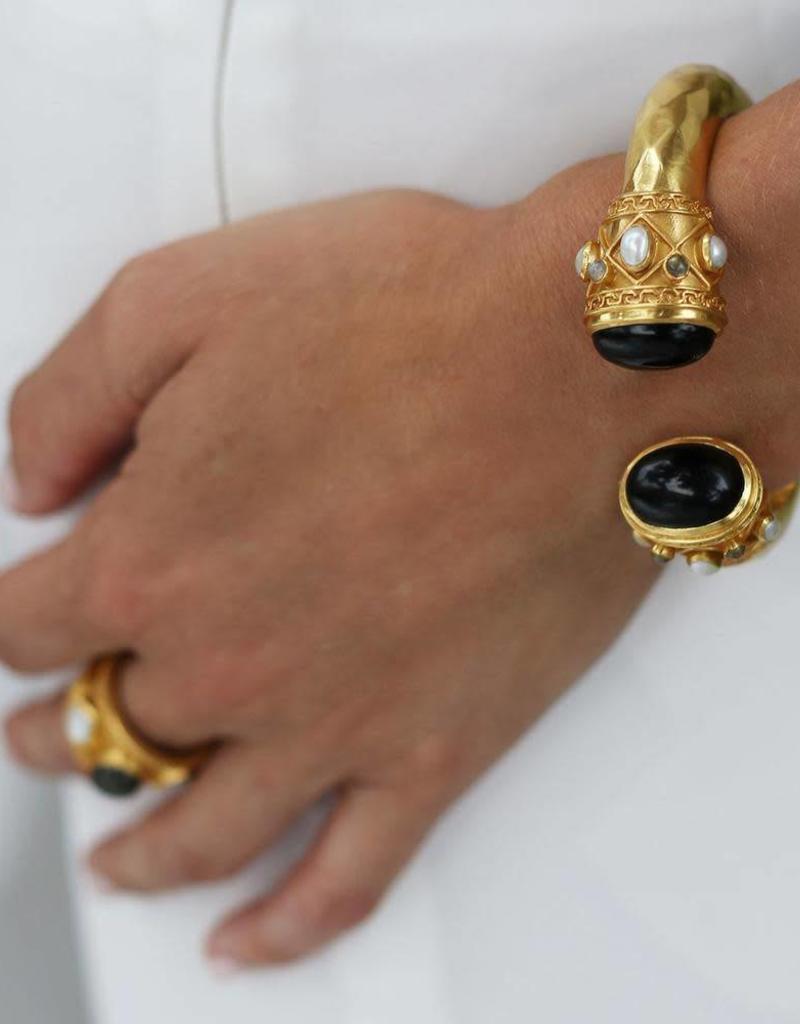 Julie Vos Greek Key Hinge Cuff