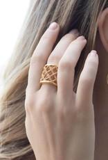 Julie Vos Loire Ring Gold