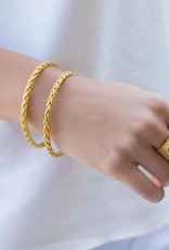 Julie Vos Monterey Gold Bangle