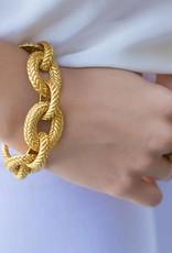 Julie Vos Monterey Link Bracelet Gold
