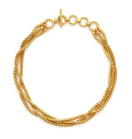 Julie Vos Monterey Woven Necklace Gold