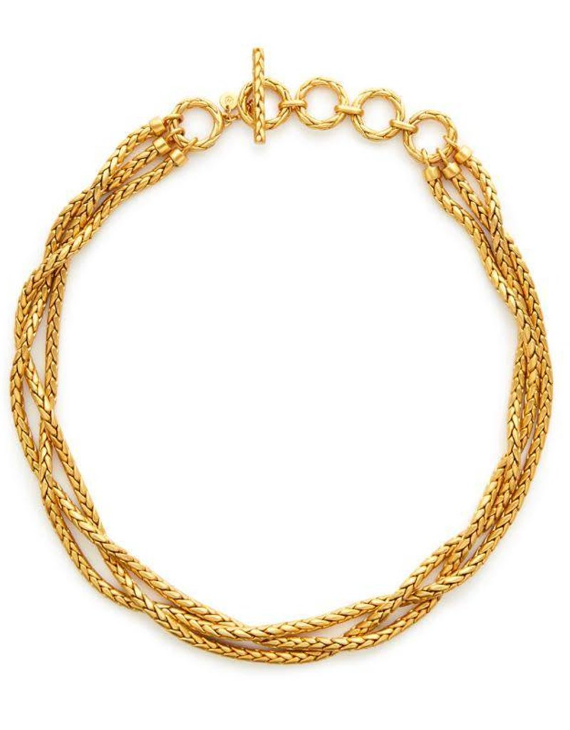Julie Vos Monterey Woven Necklace Gold