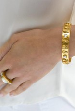 Julie Vos Pineapple Bangle Gold