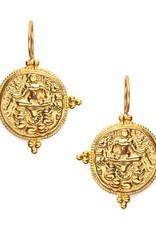 Julie Vos Quatro Gold Coin Earring