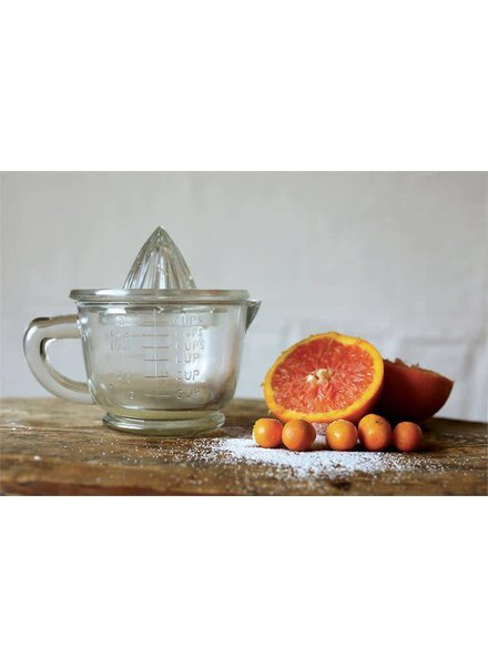 Creative Co-Op Pressed Glass Juicer with Top