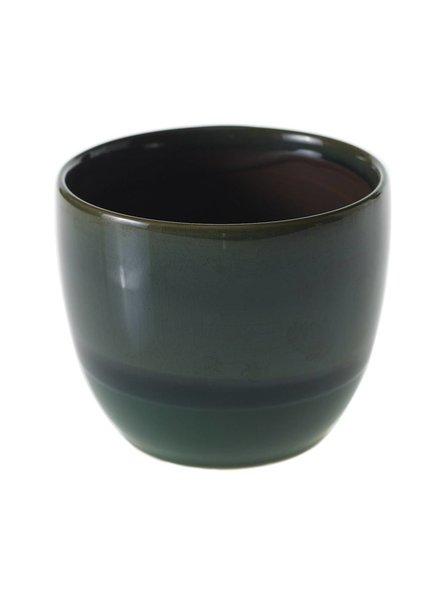 Accent Decor Jade Glazed Ceramic Briza Planter Pot