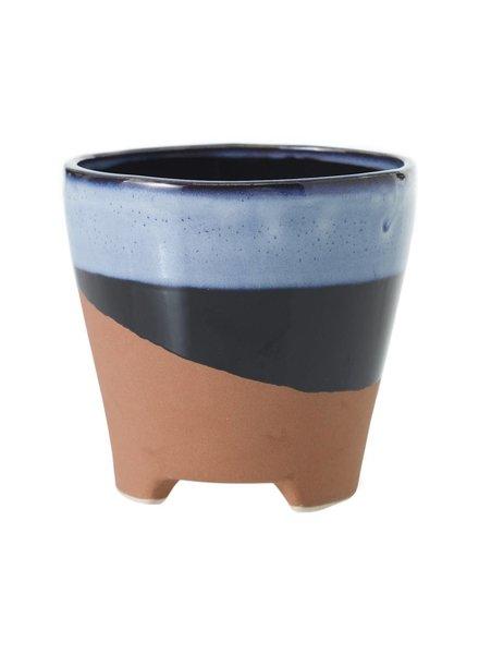 Accent Decor Azteca Blue and Terracotta Pot