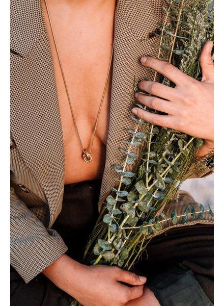 Slate & Stone Slate & Stone- Knot Charm Necklace