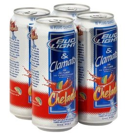 Bud Light Chelada 16oz 4 can