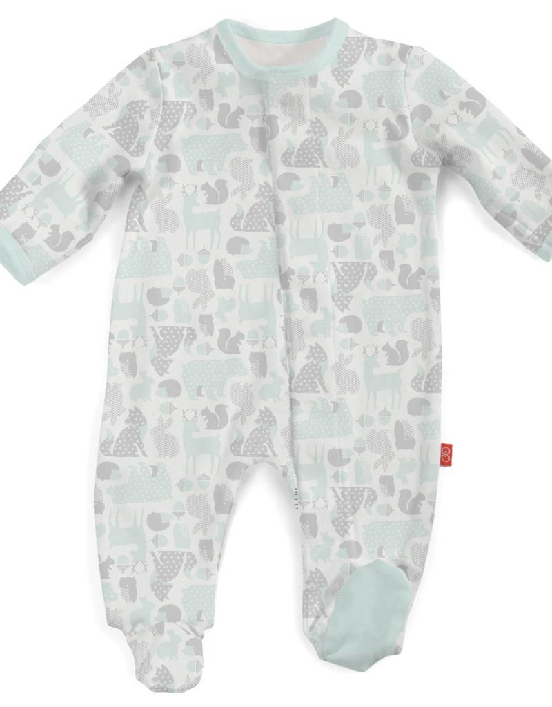 MAGNIFICENT BABY MAGNIFICENT BABY  UNISEX ENCHANTED FOREST FOOTIE
