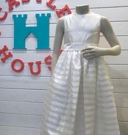 SUSANNE LIVELY GIRLS STRIPE DRESS W/SASH - SIZE 6X