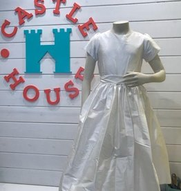 SUSANNE LIVELY SUSANNE LIVELY GIRLS SILK DRESS W/ CAP SLEEVES & SASH