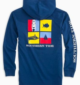 SOUTHERN TIDE NAUTICAL FLAGS HOODIE TEE