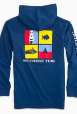 SOUTHERN TIDE SOUTHERN TIDE  NAUTICAL FLAGS HOODIE TEE