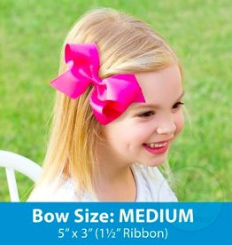wee ones MEDIUM ORGANZA/GROSGRAIN OVERLAY BOW