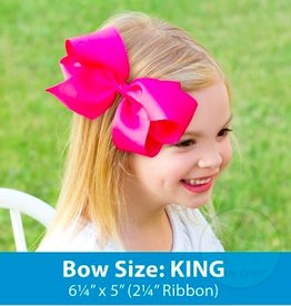 wee ones KING ORGANZA/GROSGRAIN OVERLAY BOW
