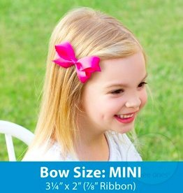 wee ones MINI FRENCH SATIN SILK BOW