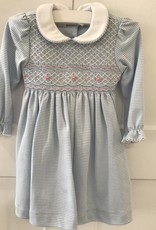 PETIT BEBE LONG SLEEVE SMOCKED DRESS