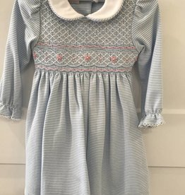 LONG SLEEVED SMOCKED DRESS