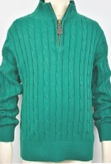 ELAND E LAND 1/4 ZIP CABLE SWEATER