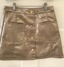 MAYORAL GOLD FAUX LEATHER SKIRT