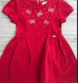 MAYORAL GIRLS RED DRESS