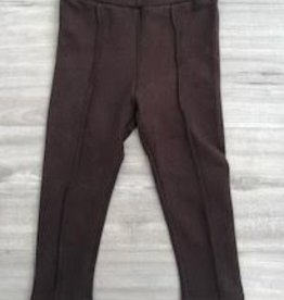 MAYORAL BROWN FAUX SUEDE LEGGINGS